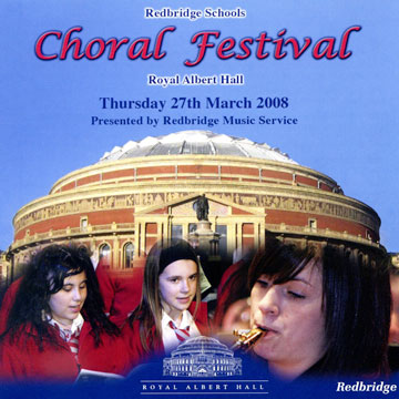 CD cover for Redbridge Schools Choral Festival