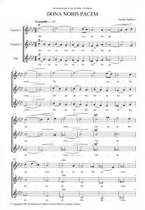 Score sample - Dona nobis pacem