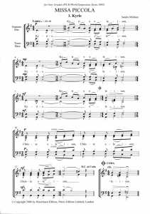 Sample score - Missa Piccola