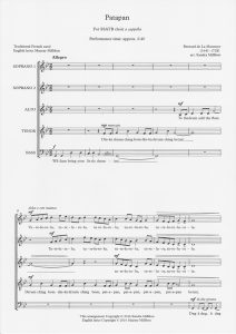 Sample Score - Patapan Page 1