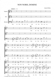 Score sample - Non nobis, Domine