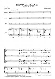 Score Sample - The ornamental cat
