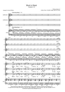 Black is Black SSA score pg. 1