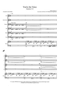 You're the Voice SATB pg.1