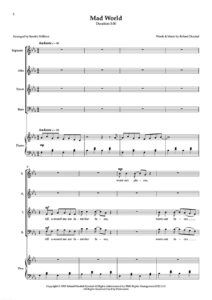 Mad World SATB Page 1